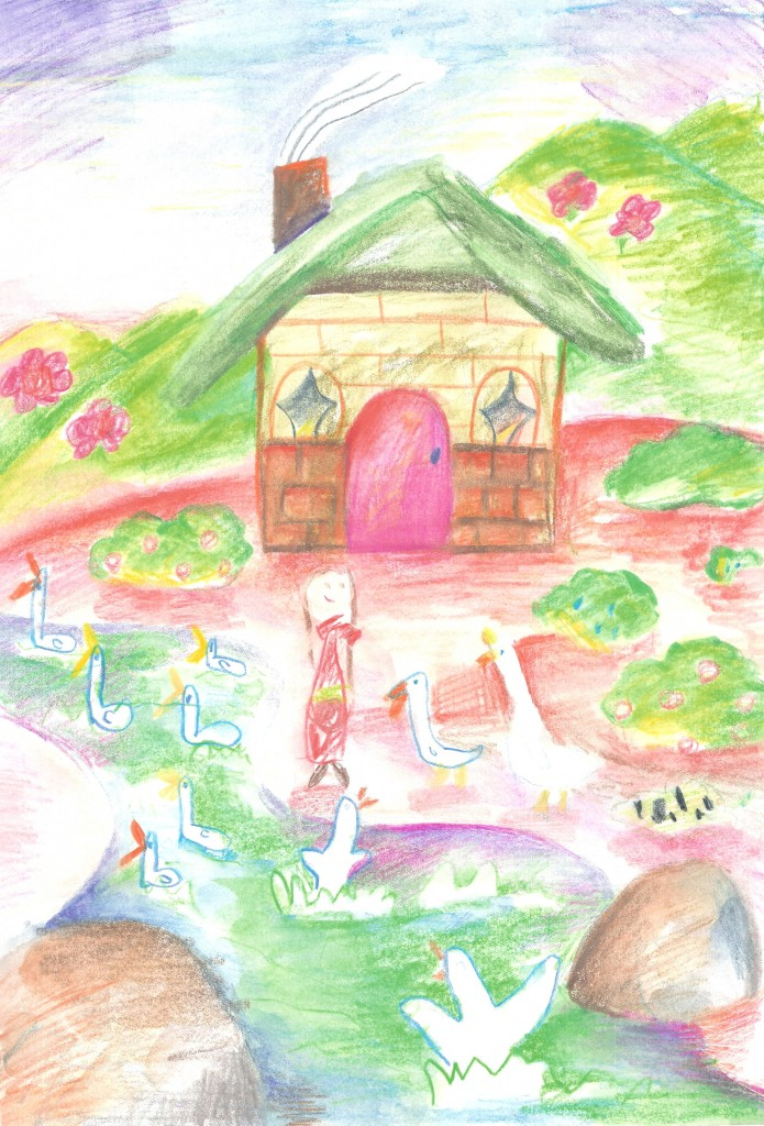 Elena's drawing of the song Home / Jia