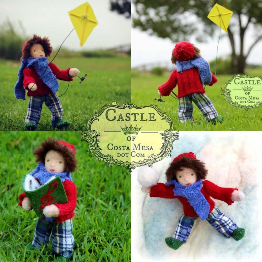 140923 Quadritych Kite Boy, Caroling Boy and Snow Boy 2