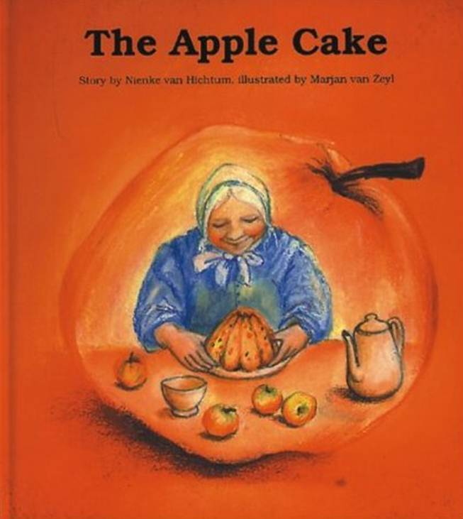 Apple Cake by Nienke Van Hichtum. Waldorf heartwarming inspiring spiritually uplifting feeds the soul book. Handmade and homespun Waldorf table top fairy tale puppet theater by CastleofCostaMesa.