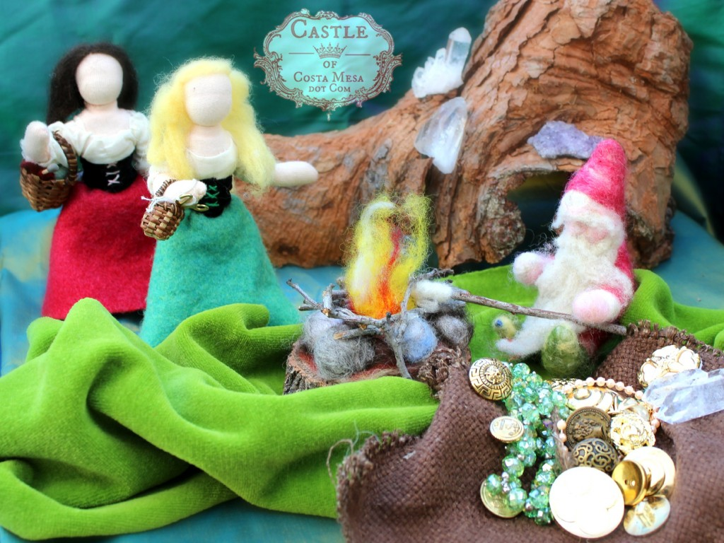 111104 Snow White and her sister Rose Red stumbled upon a gnome roasting marshmellow in the woods