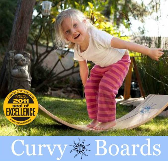 Curvy Boards by OpenEndedCreations. Michaela's store. Rocker Boards and other Waldorf developmental toys.