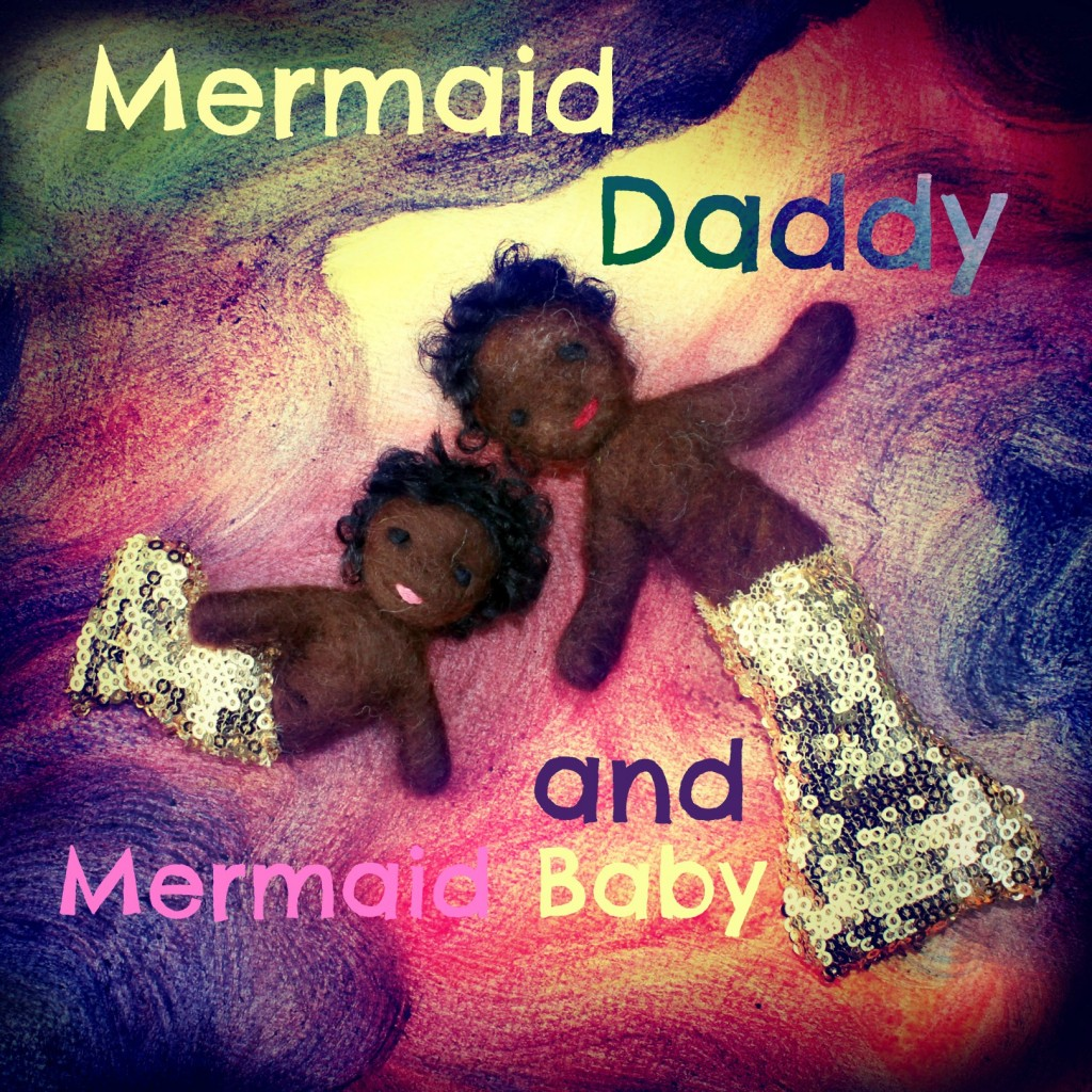 130318 Kabi and Booboo. Mermaid Daddy and Mermaid Baby. Fairy Tale Dolls, Handmade with Love, CastleofCostaMesa.Com