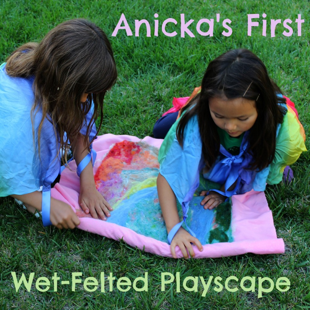 130403 Anička's first wet-felted playscape. Square.