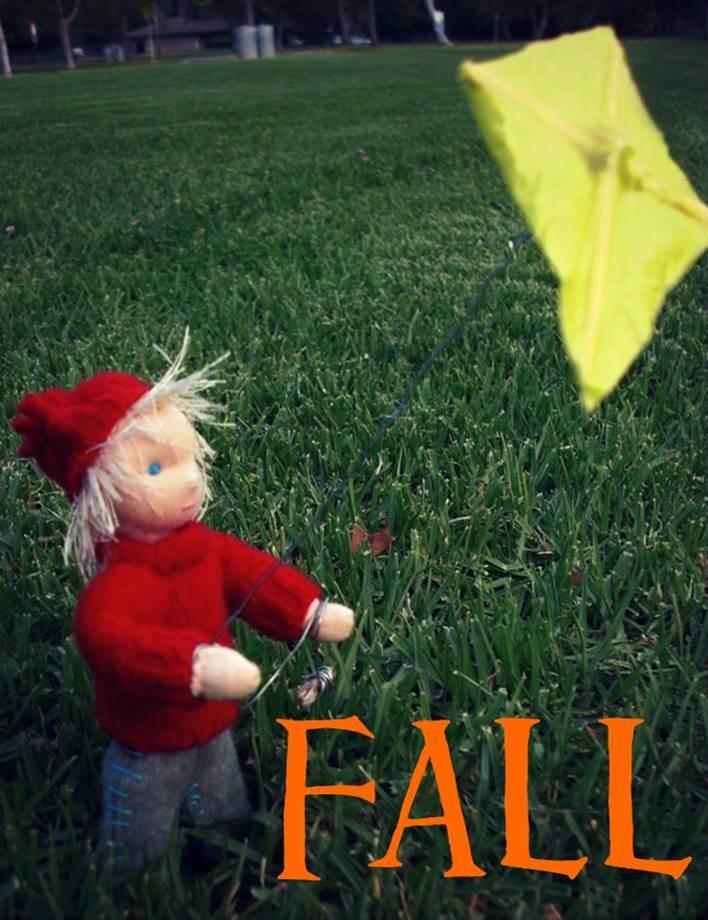 130925 Windswept hair, red lambswool sweater, yellow kite blonde handmade Nova Scotia Kite boy Fall Autumn Waldorf Seasons Nature Table post pretty.