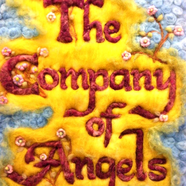 131113 The Company of Angels store name needle-felted. square cropped