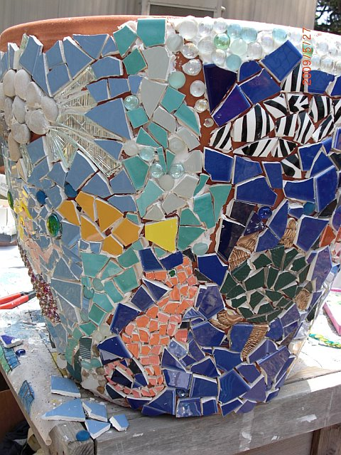Under The Sea Mosaic Planter Waldorf Craft Group Project