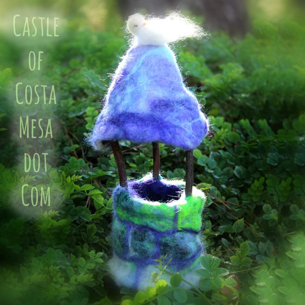 130730 Magical Felt Bottomless Wishing Well handmade by CastleofCostaMesa.Com.