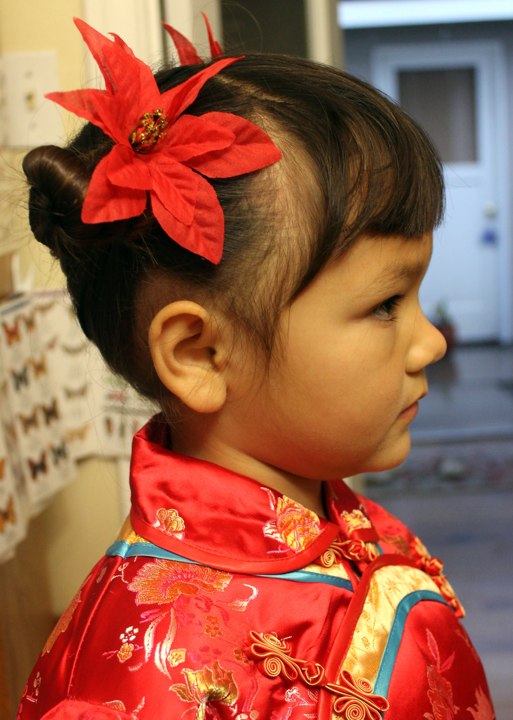 Traditional Chinese Children S Hairstyle Two Buns On The Sides