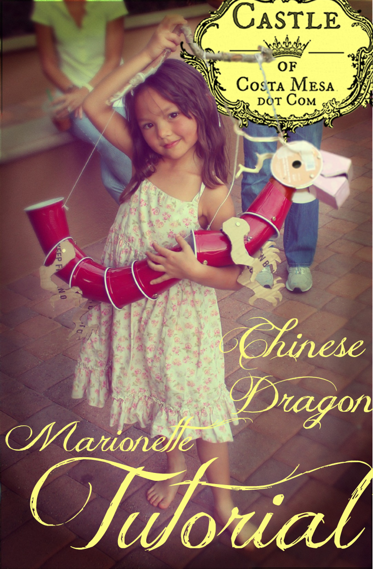 Chinese New Year pet Chinese Dragon craft handmade Marionette photo Tutorial.