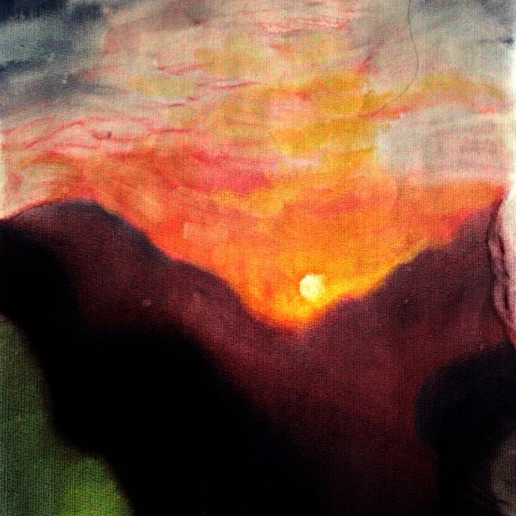 111003 lavendar sun. Square. Watercolor painting with Angelika Kolbe. Wednesday Morning Craft Group, Waldorf School of Orange County. CastleofCostaMesa.Com
