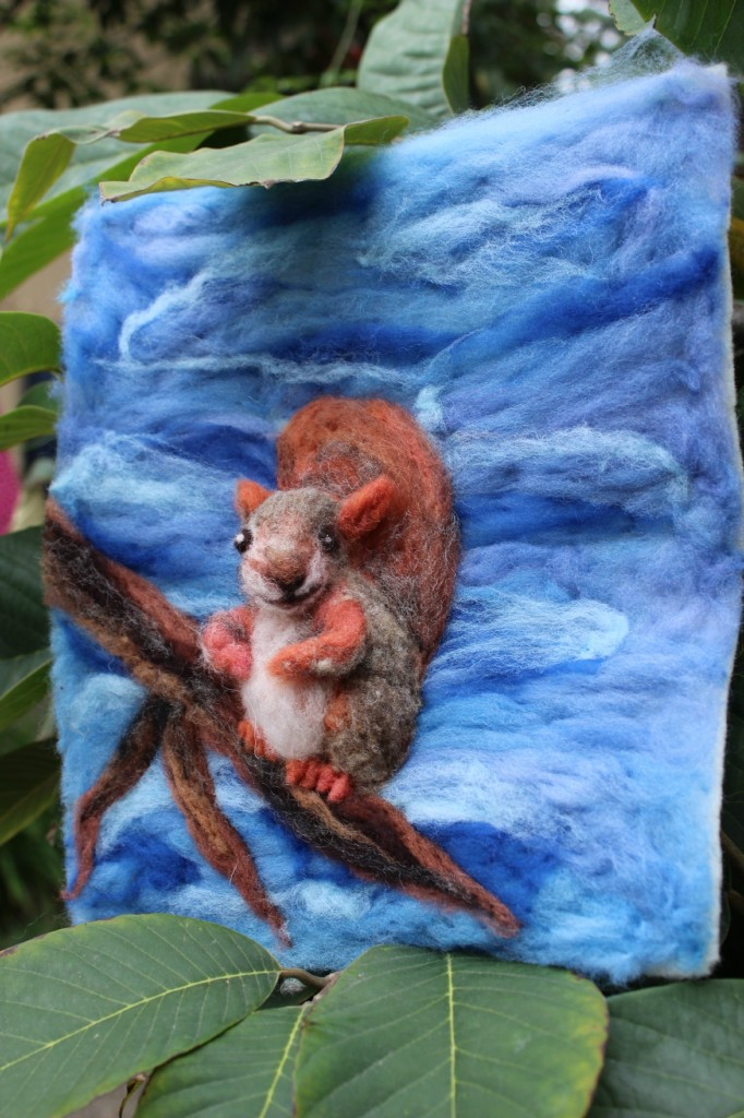 130205 Cathrine Ji's Needle-felted squirrel picture