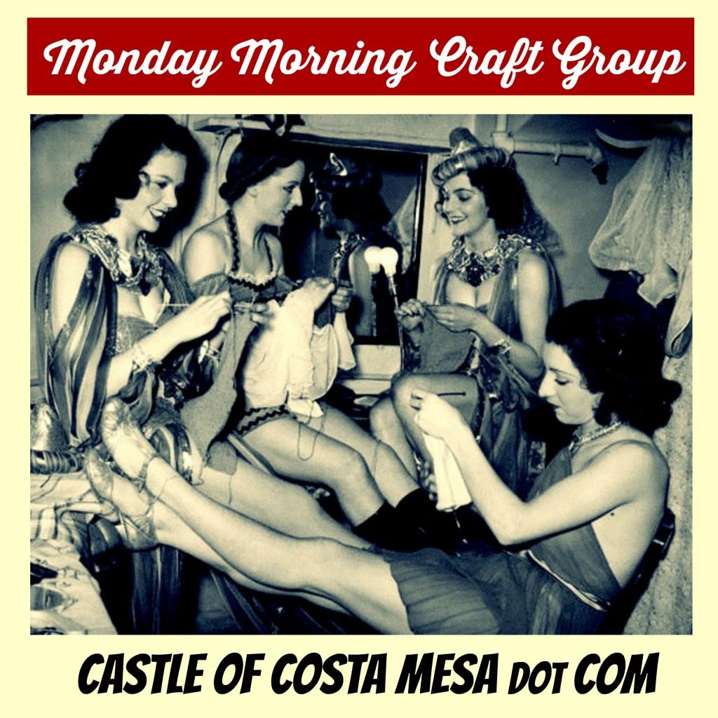 140907 Monday morning craft group. Waldorf School of Orange County. Show girls. CastleofCostaMesa.Com. 2