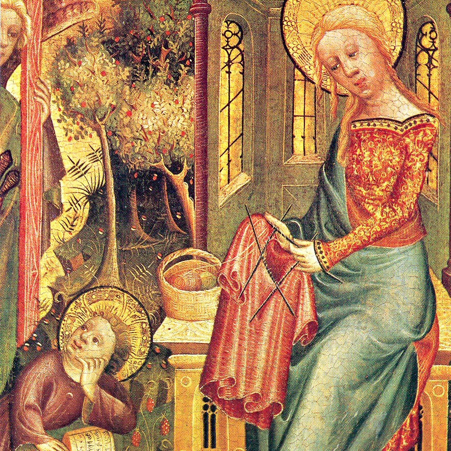 140929 Madonna Knitting, by Bertram of Minden 1400-1410