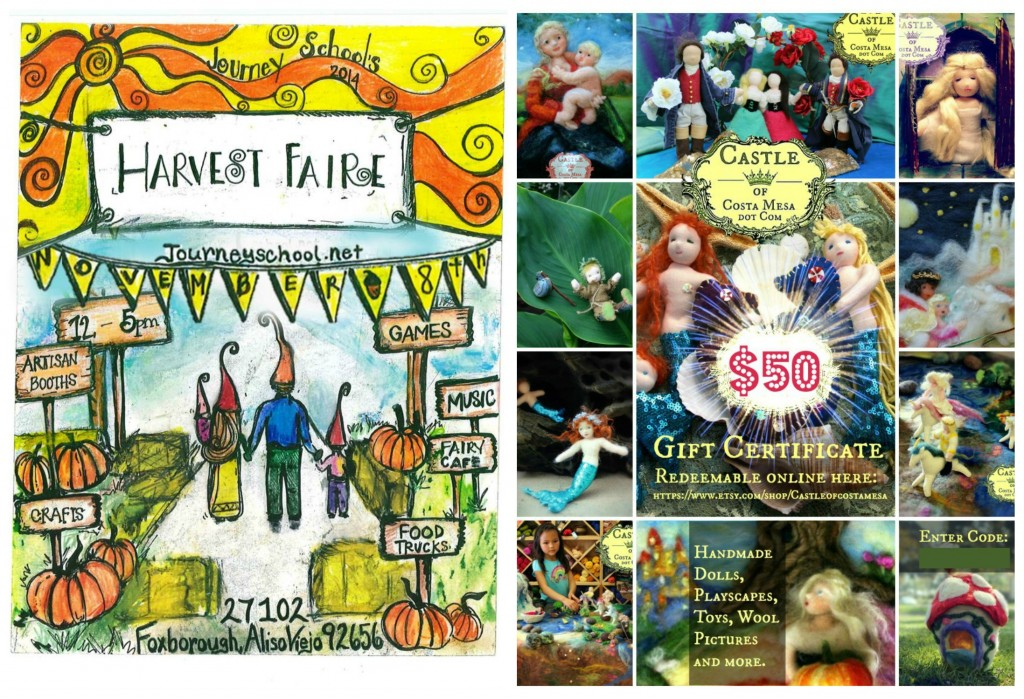 141108 Harvest Faire Journey School November 8, 2014 and CastleofCostaMesa craft booth show