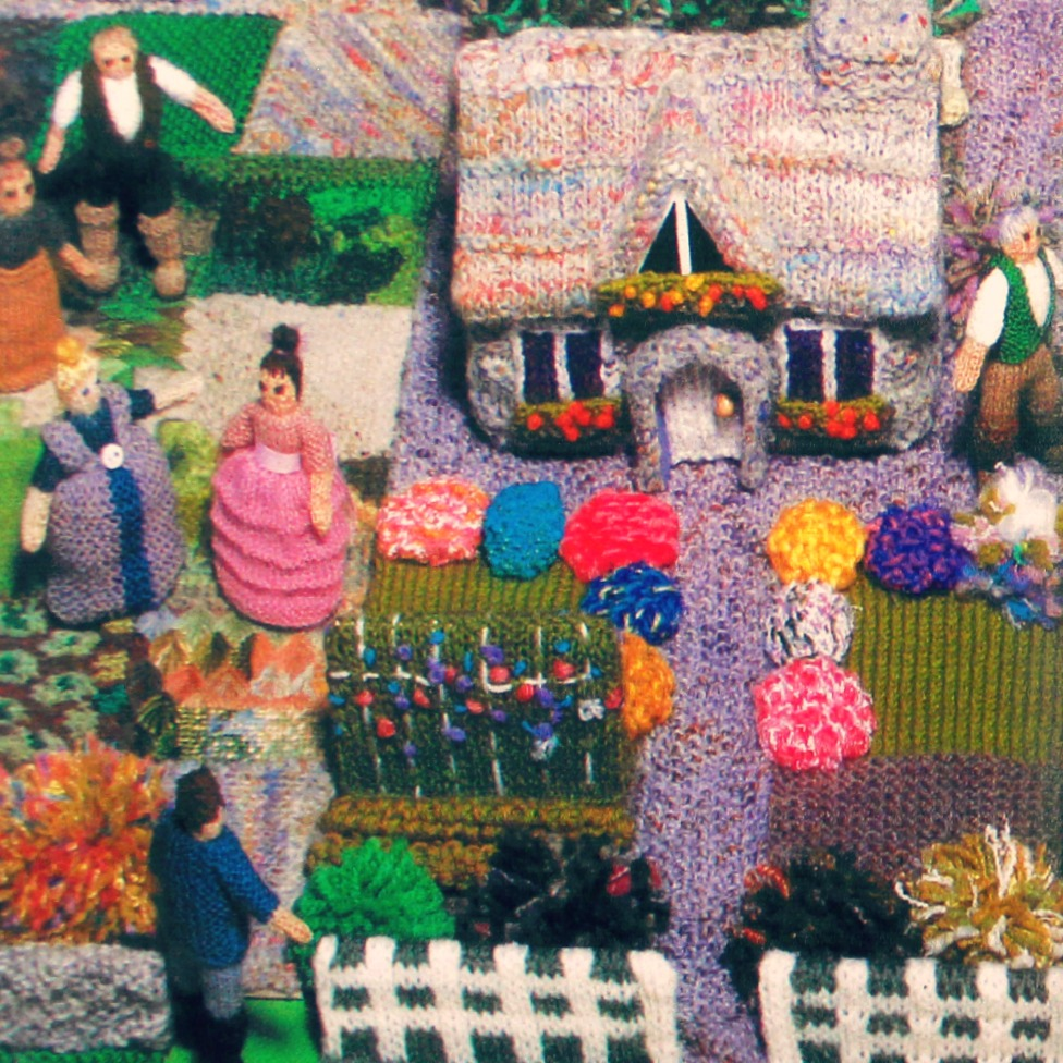 150112 Waldorf School of Orange County craft group Gala knitted village and gardens. square cropped