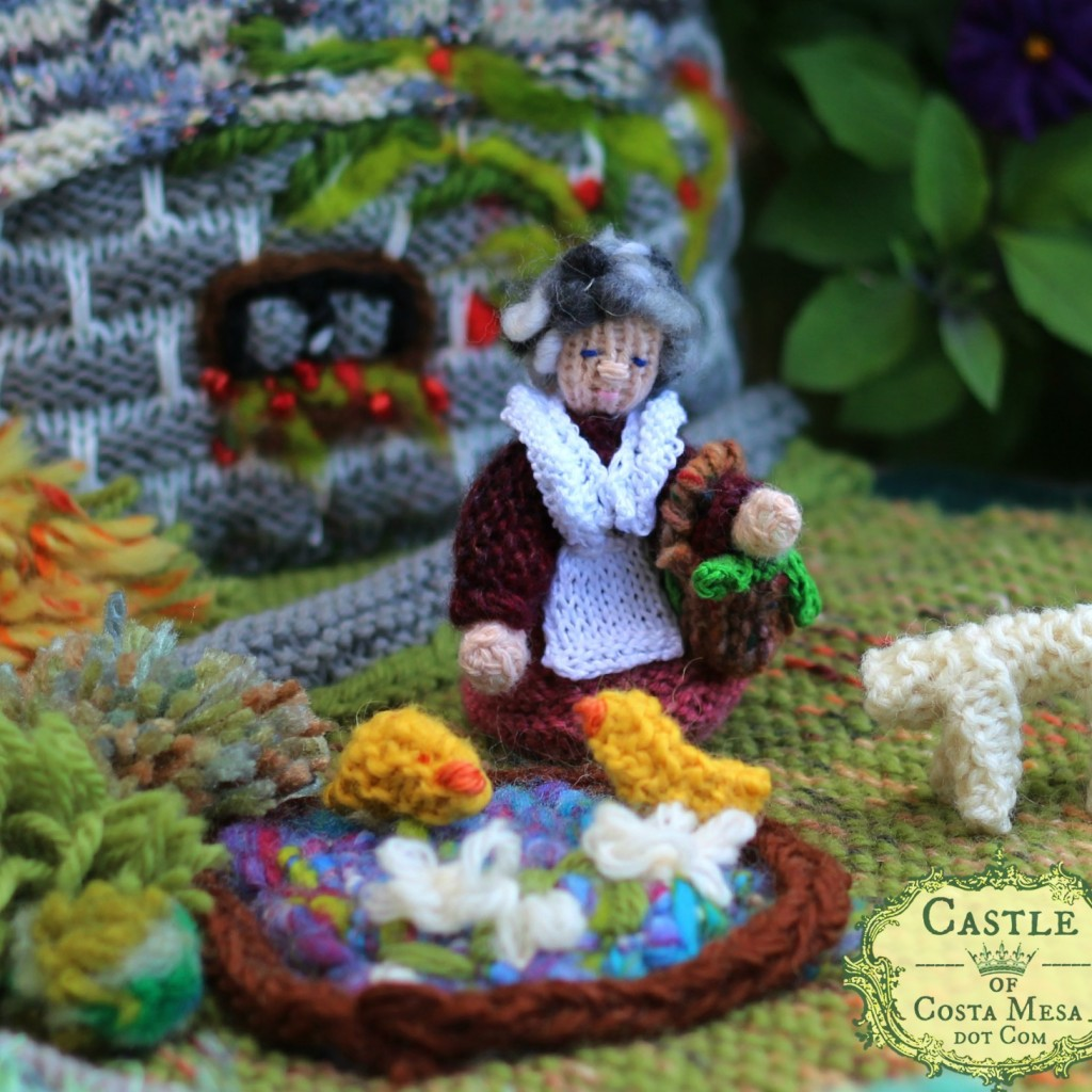 150518 Detail Grandma Waldorf School of Orange County Raffle Knitted Garden and Village for WSOC Gala