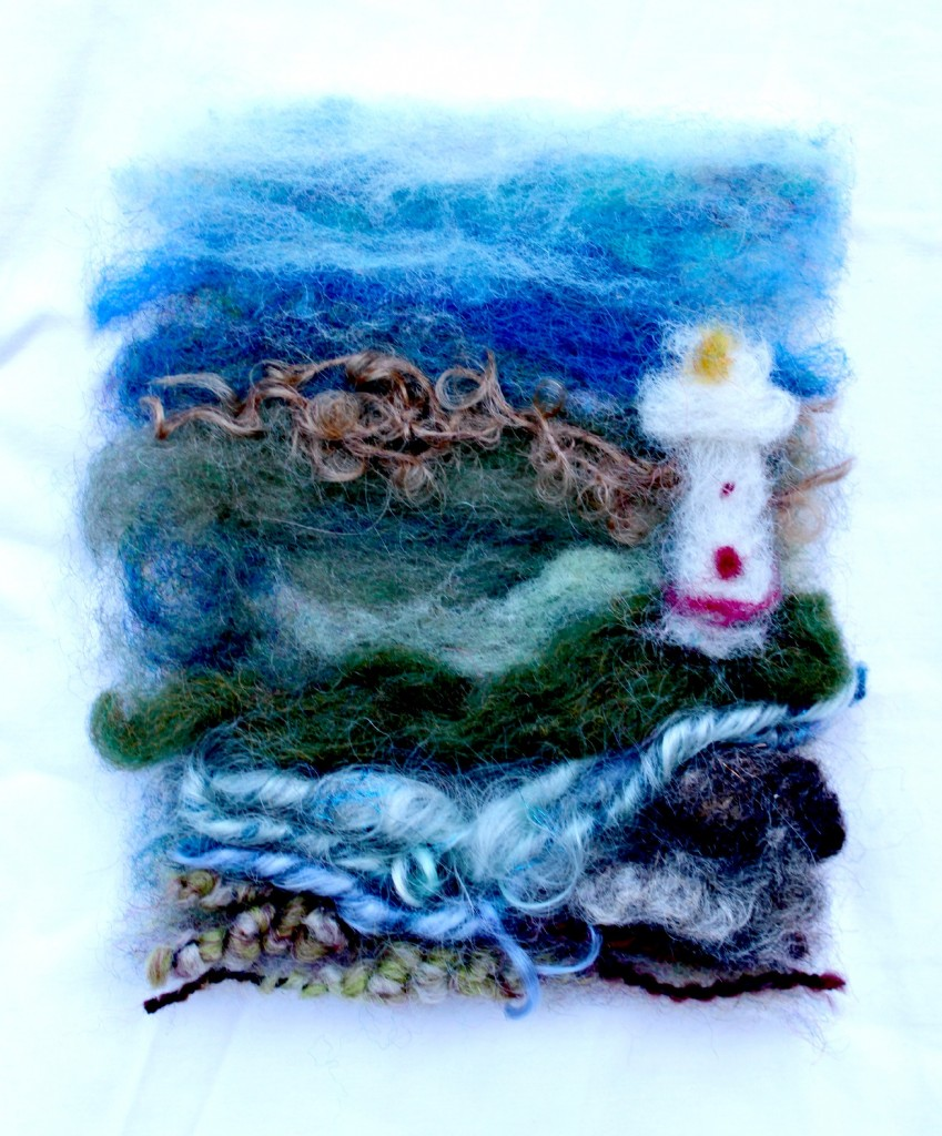 Making Needle Felted Paintings As Christmas Tree Ornaments