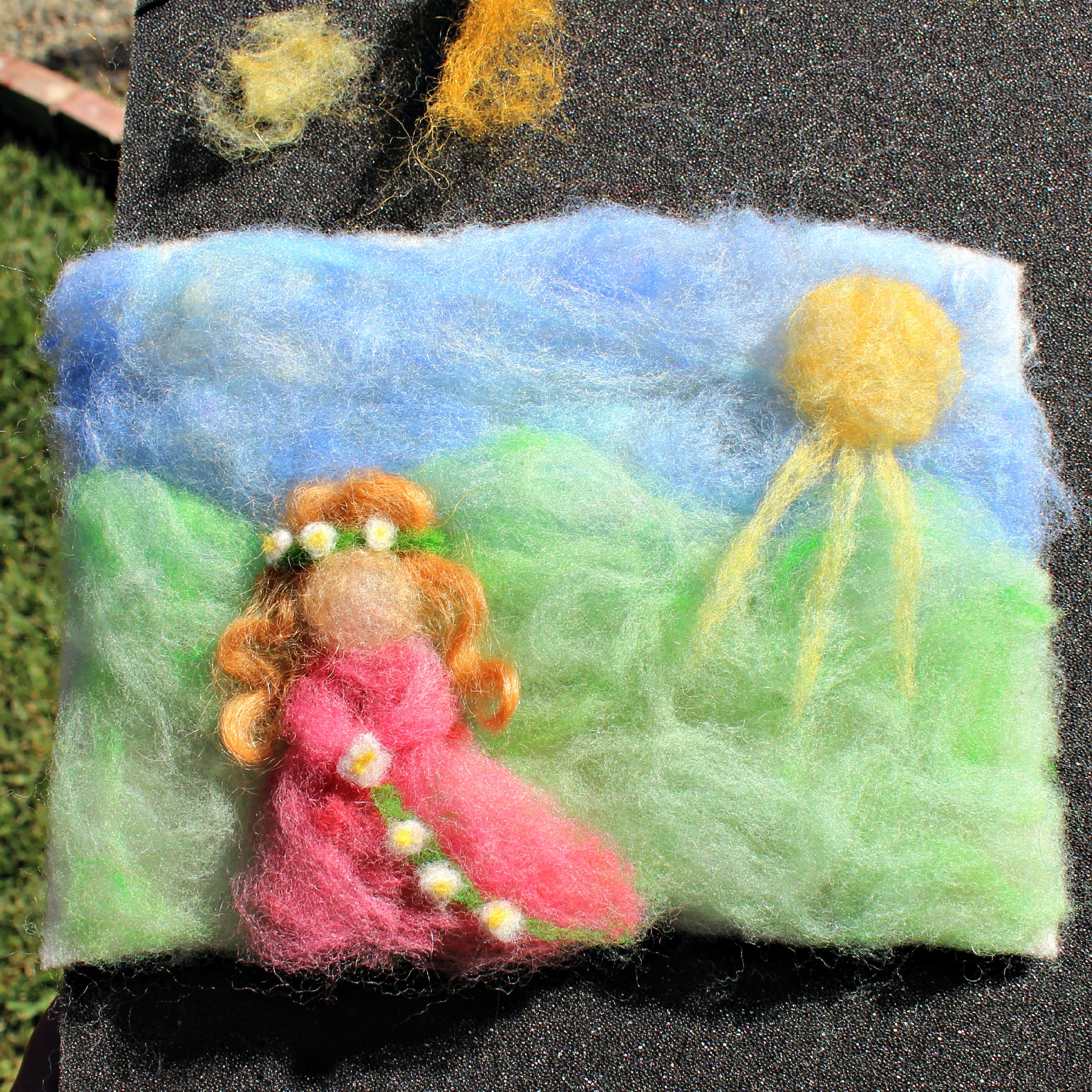 Kimmys Princess Needle Felted Scene