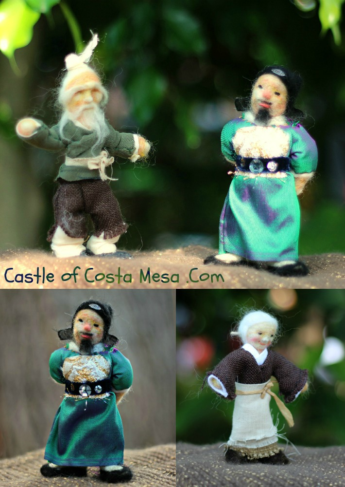 PicMonkey Collage words. Old farmer, chinese official, old grandmother collage. Laibao's Quest for a bride 来宝求亲. Handmade and homespun Waldorf Fairy Tale Chinese Table Top Puppet Theater dolls. CastleofCostaMesa.Com