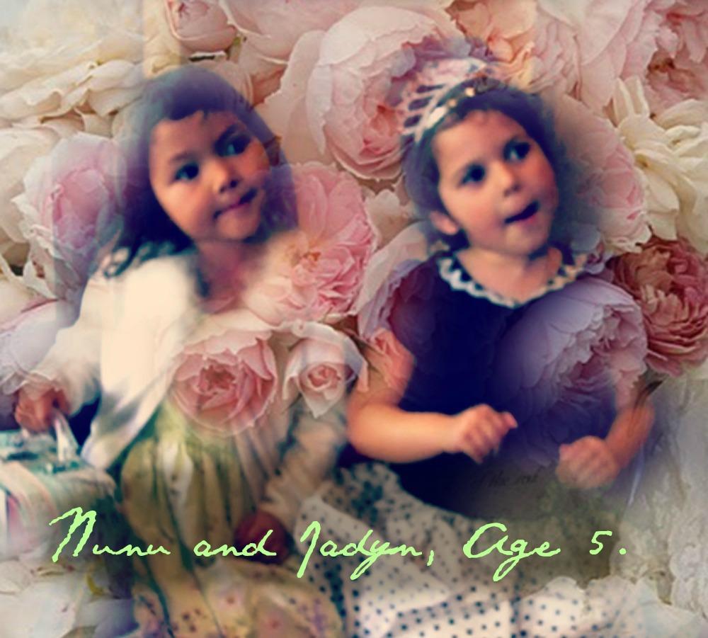 2009 Nunu and Jadyn age 5 pink peonies evite picture by Jzin.