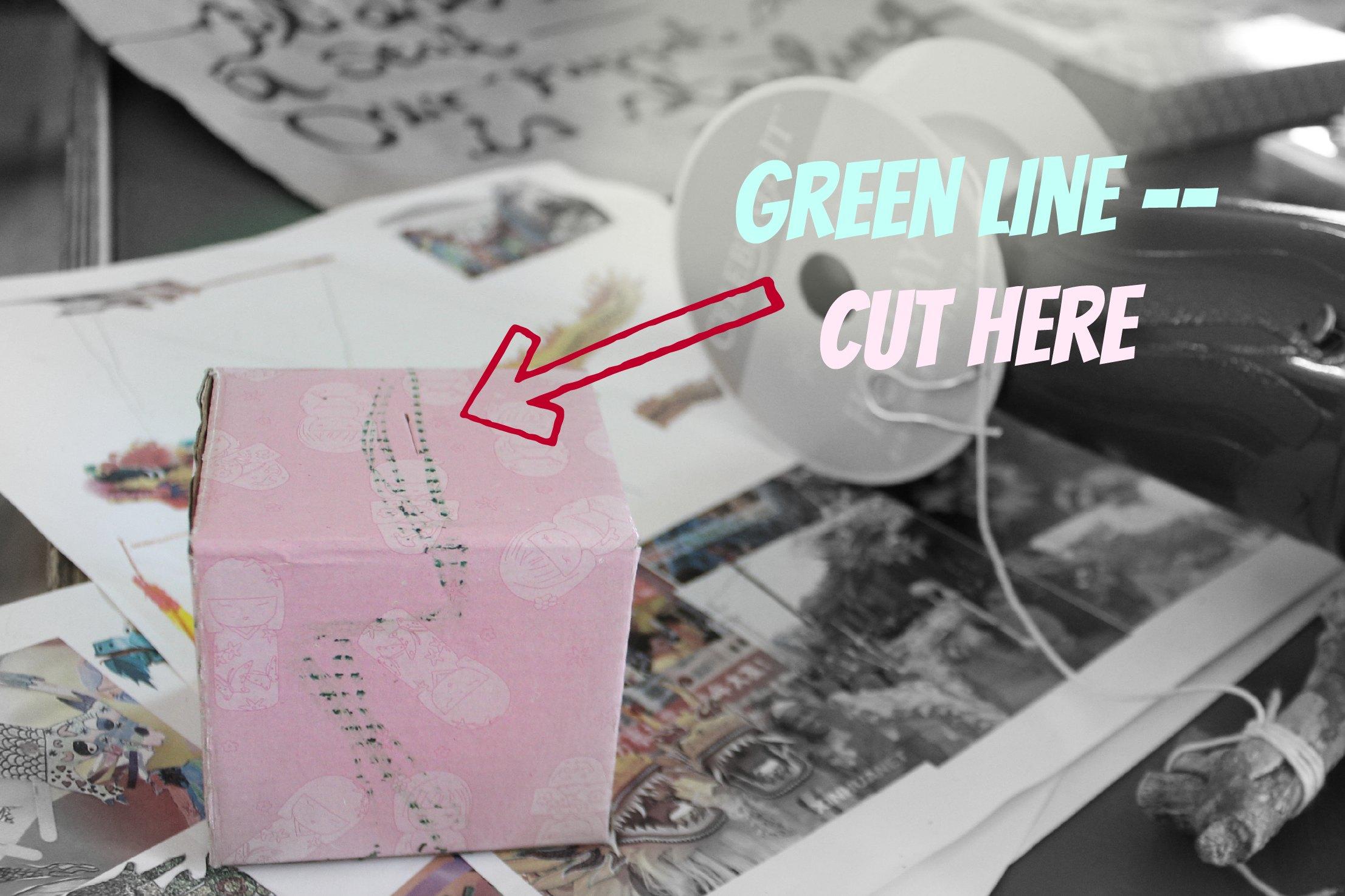 Green line cut here