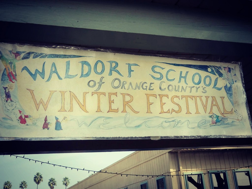 121208 Waldorf School of Orange County Winter Festival 2012 handmade painted banner