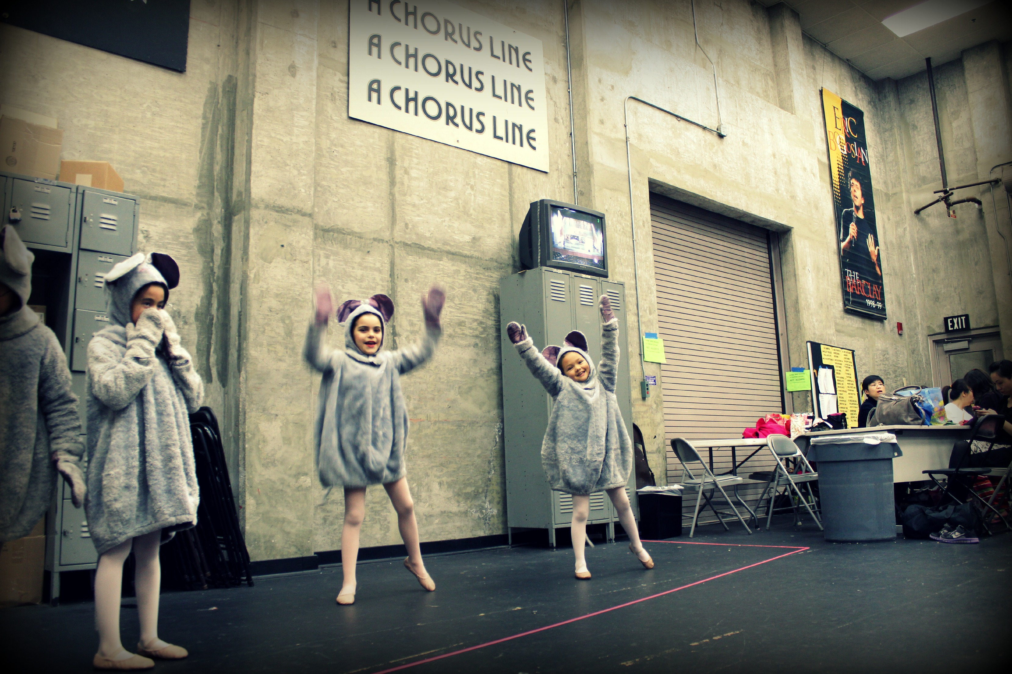 121213 Backstage dress rehearsal Little Mice Nutcracker Ballet Tchaikovsky
