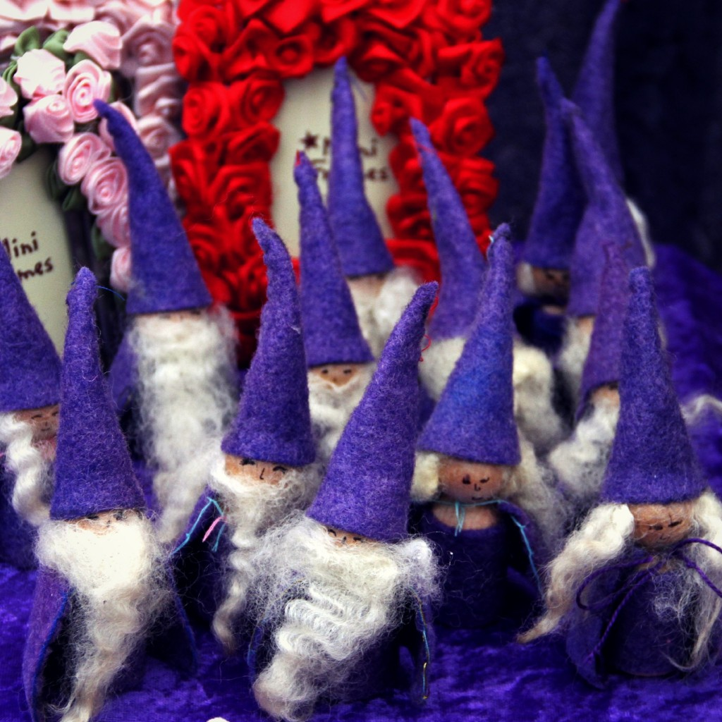 Bearded wizards with pointy caps and capes
