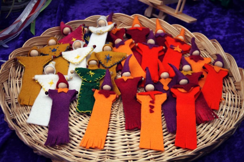 handmade felt gnome book marks