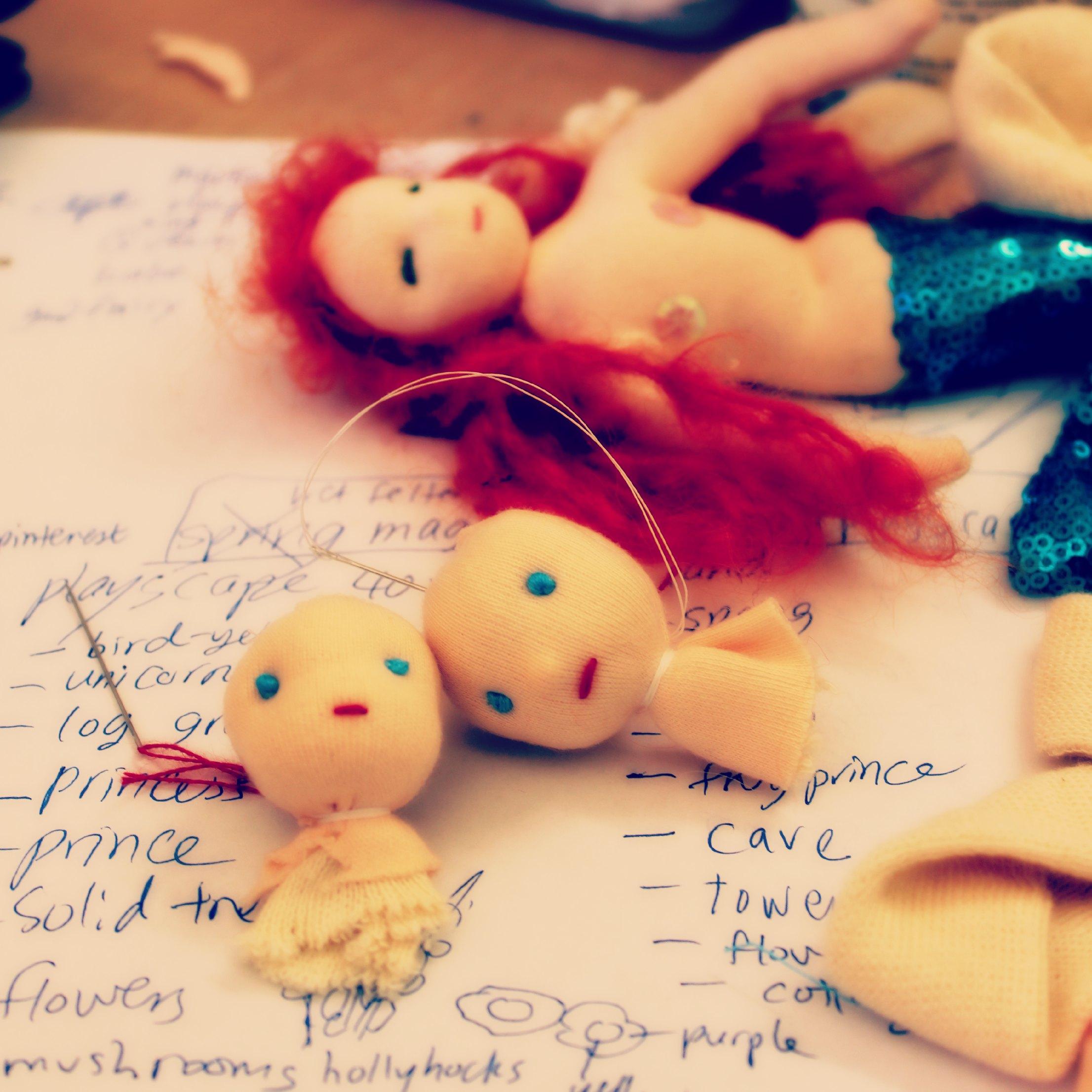 130116 Jzin's craft doll heads and mermaid Mondine