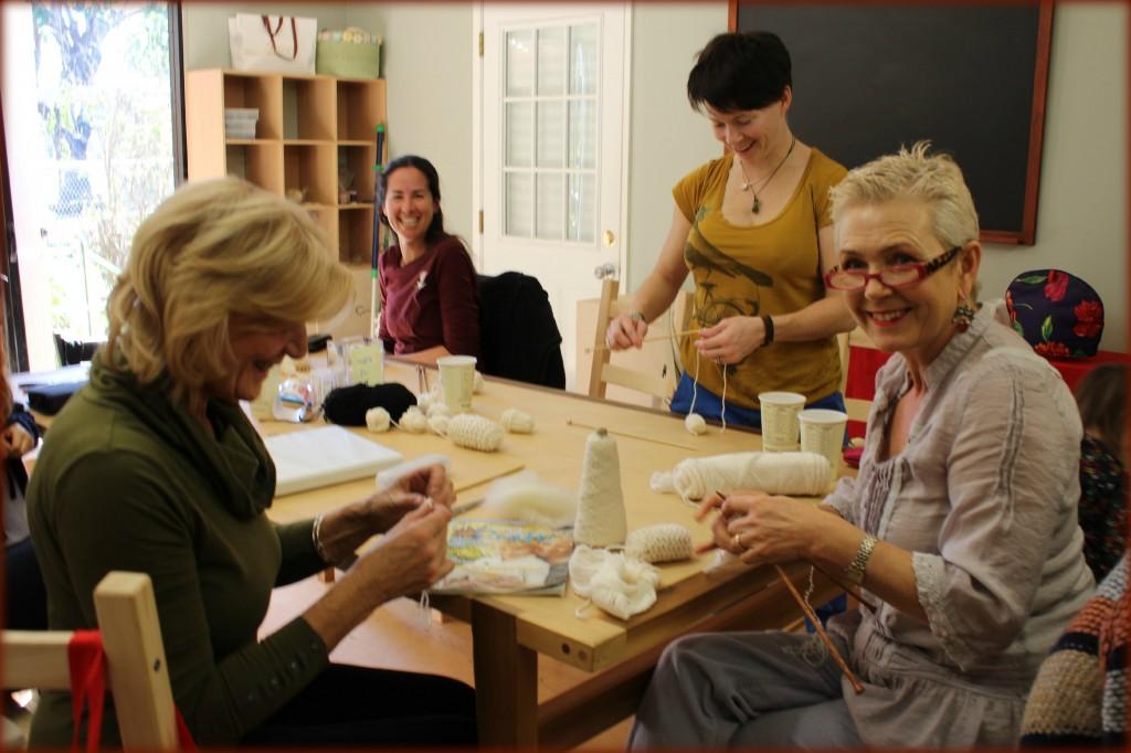 130116 Knitters Christine, Rebecca, Heather and Rachel