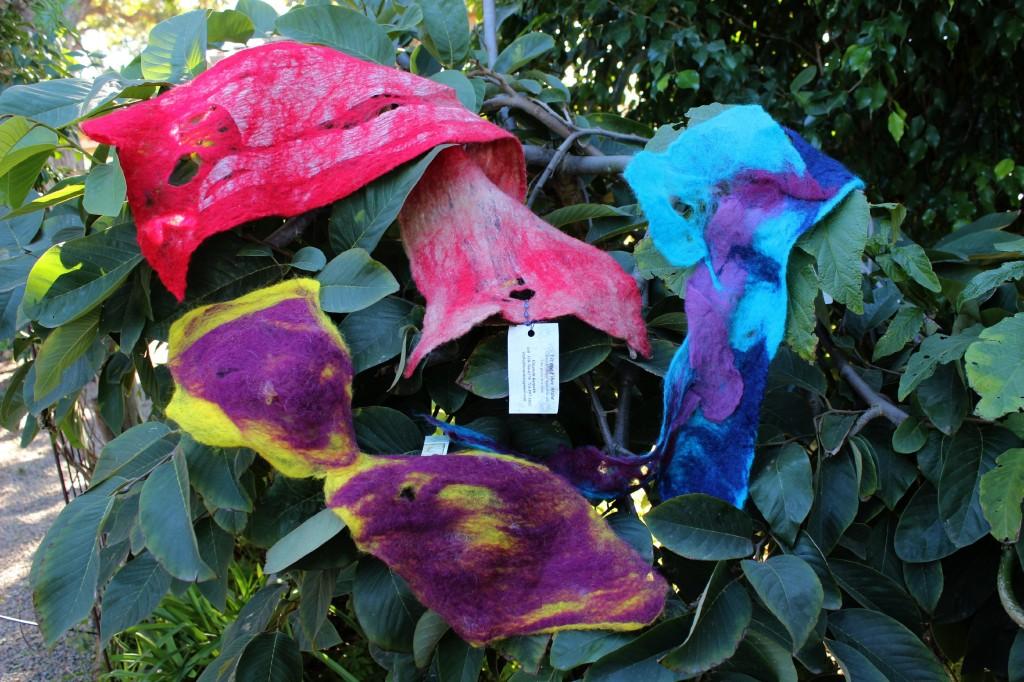 130116 Next Week Craft Project Art Felt Scarves on Cherimoya Tree.
