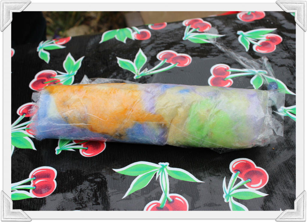 130123 The rolled up Artfel in saran wrap burrito