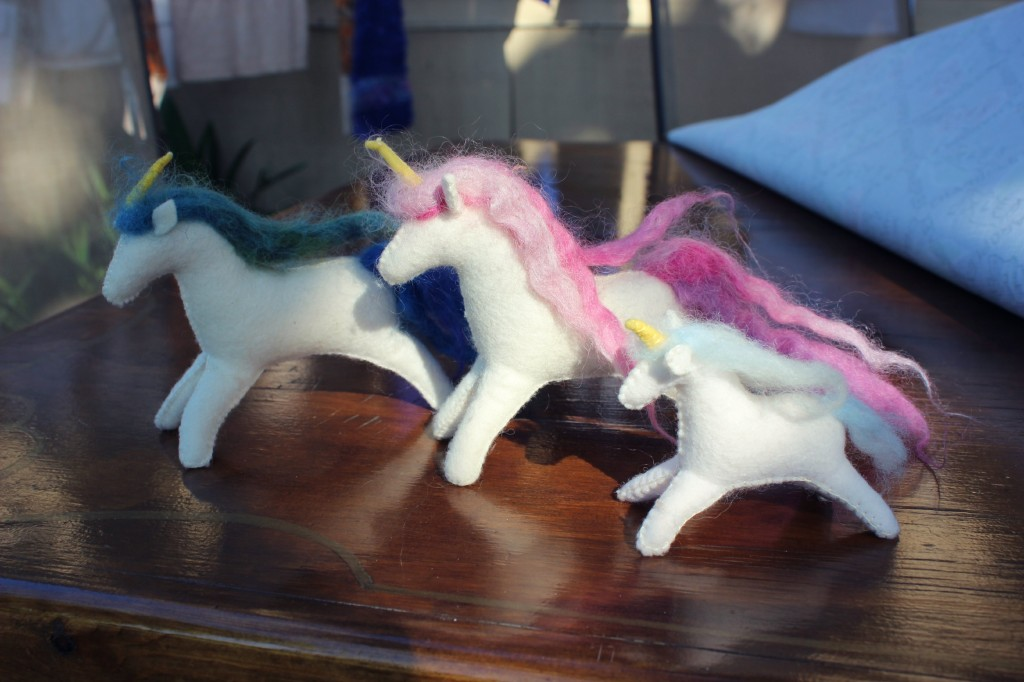 130130 Family of felt Unicorns by Renuka