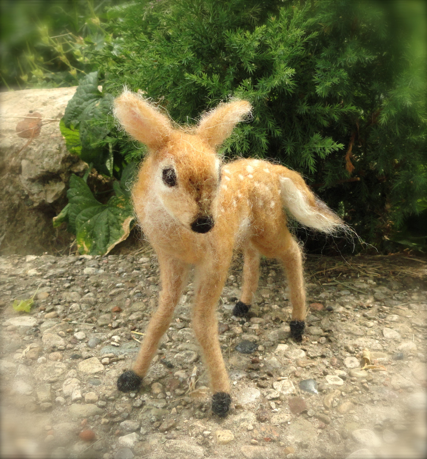 Claudia Marie's Needle Felted Deer Fawn, White Tailed, Wool on Etsy