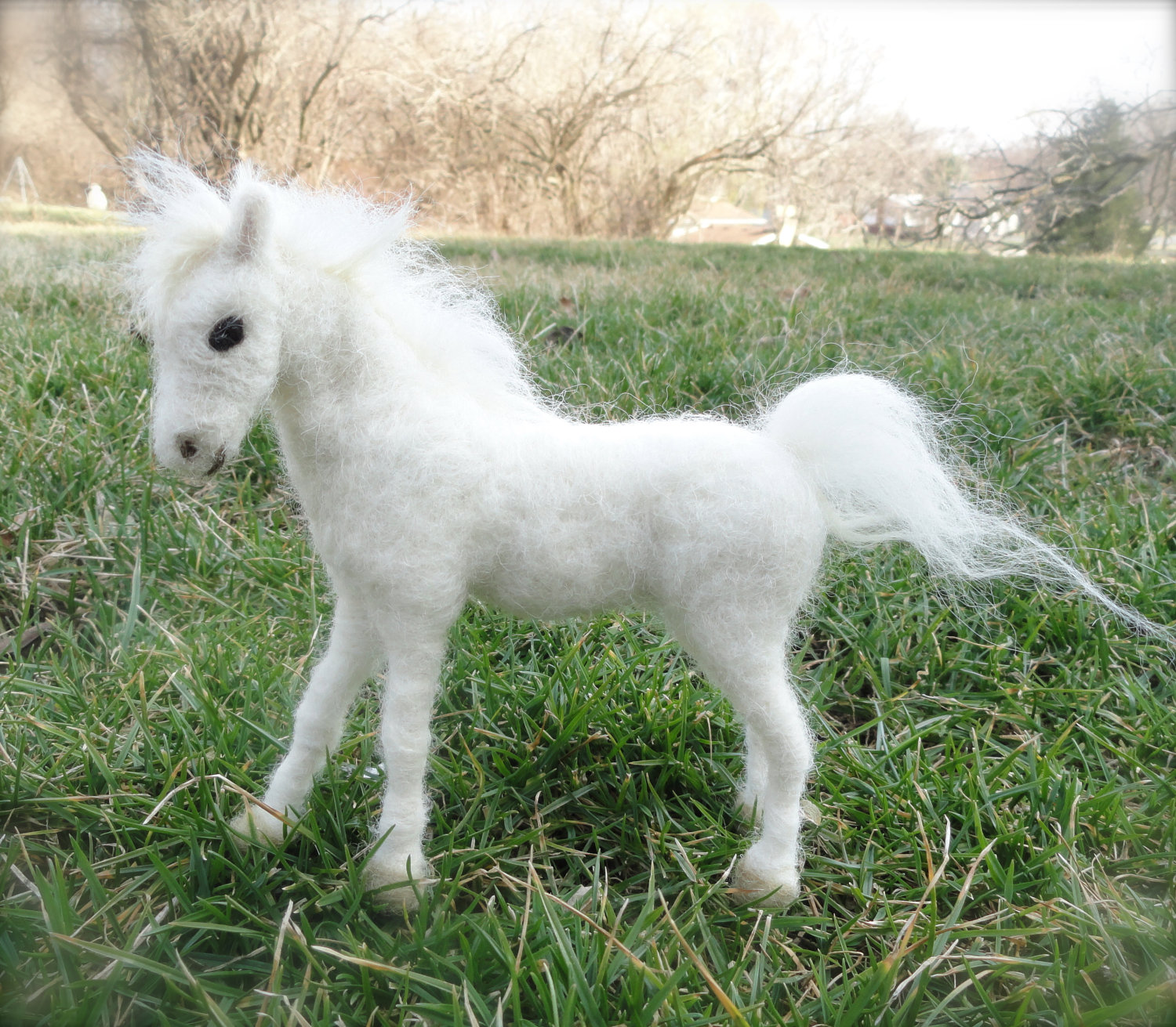 Claudiamari's white pony on Etsy