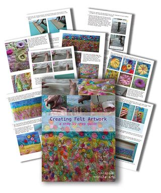 Handmade by rosiepink. Creating Felt Artwork E-Book