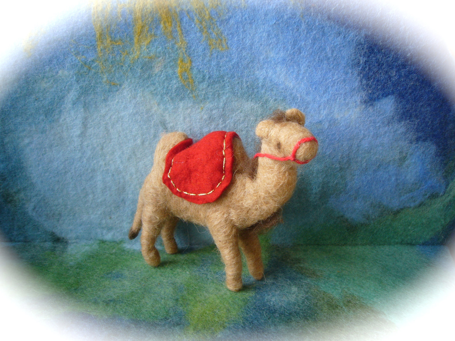 FilzArt on Etsy.Com Wet felted. Camel. Nativity Set. Waldorf .