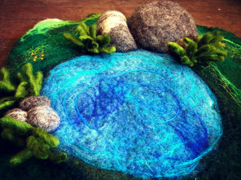 WoolyMammoth felt playscape pond