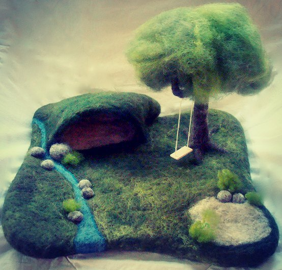 playscape with cave and tree swing by dragonflyducky, via Flickr