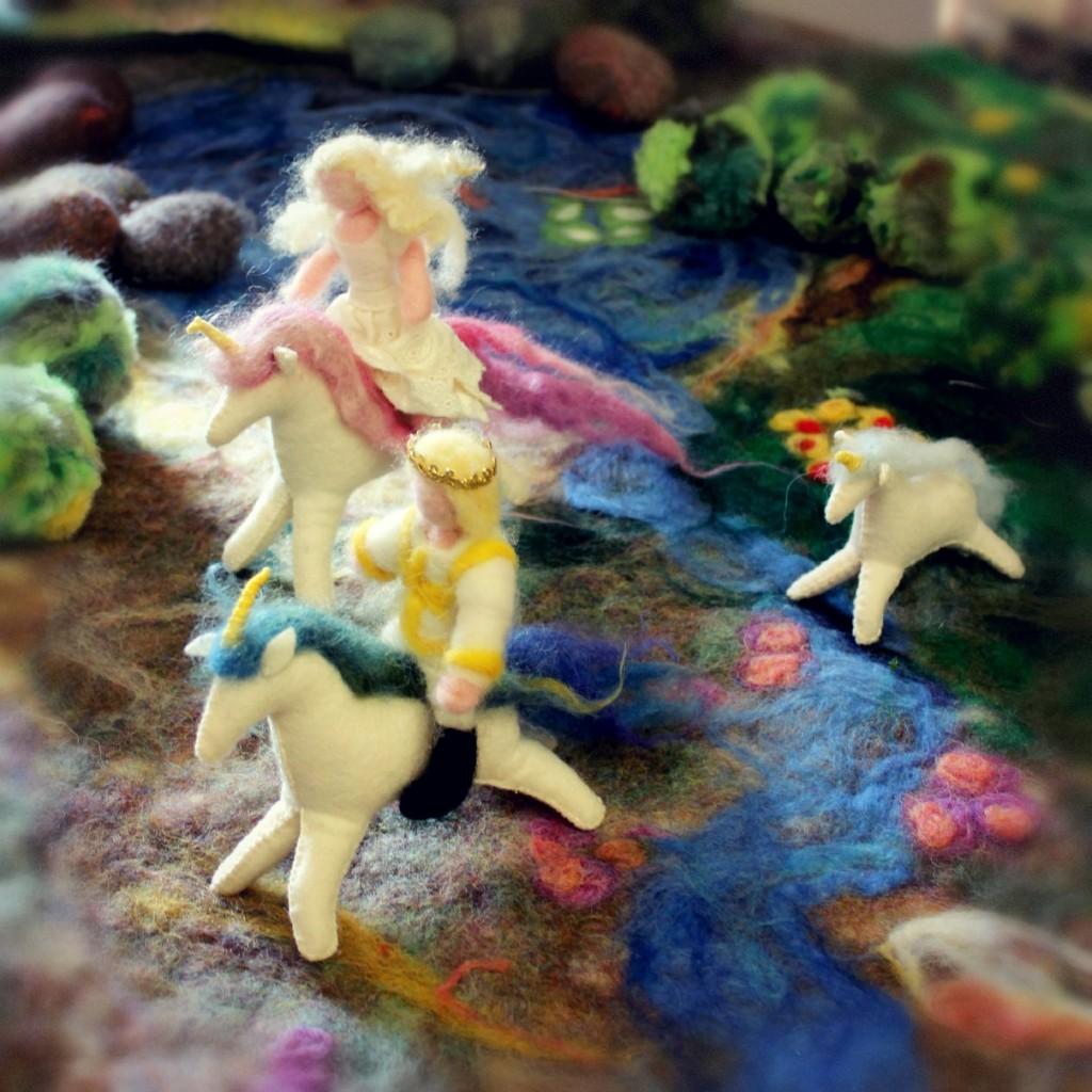 130205 Prince, princess and unicorns galloping across the woodland