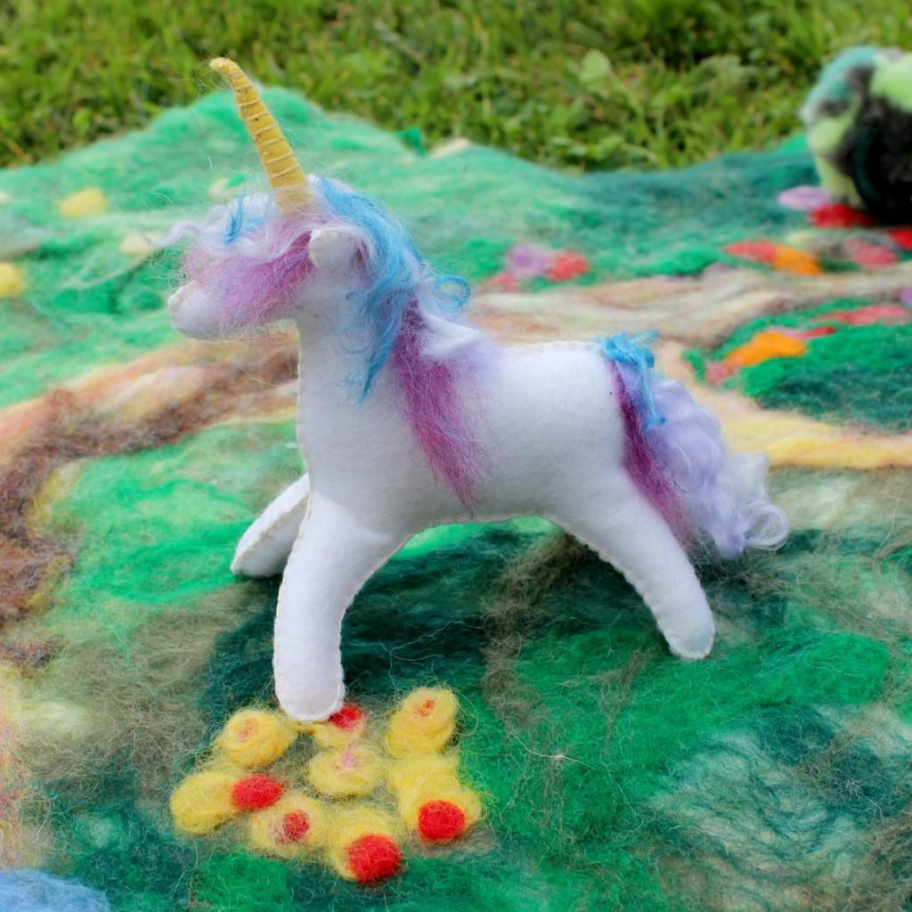 130205 Renuka's handmade miniature felt unicorn