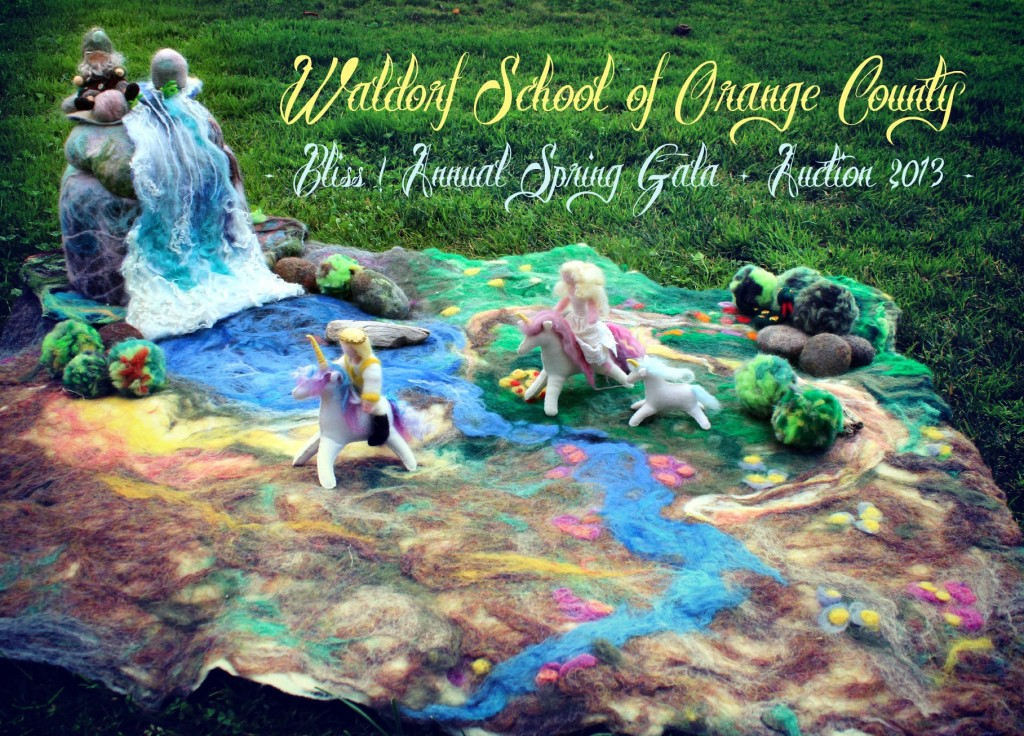 130207 Waldorf School of Orange County. Bliss Annual Spring Gala and Auction 2013. Wednesday morning craft group Part 2 wetfelted Enchanted woodland playscape