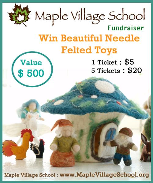 130321 Maple Village School Win Beautiful Needle-felted toys poster
