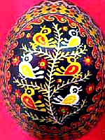 130321 Pysanky Ukrainian egg with birds on a tree design