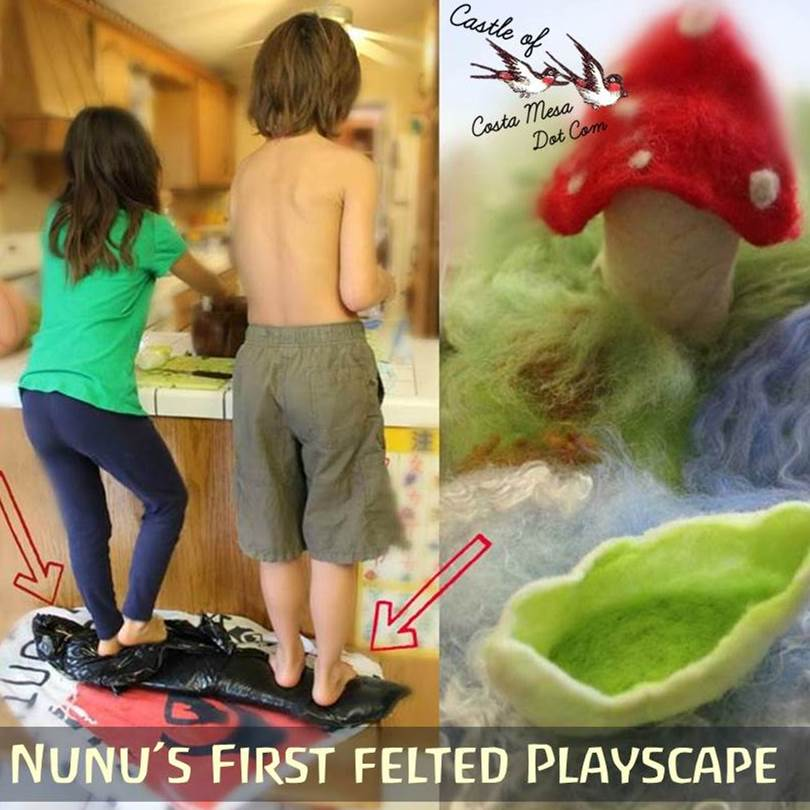 130408 Nunu's first felted playscape. Square