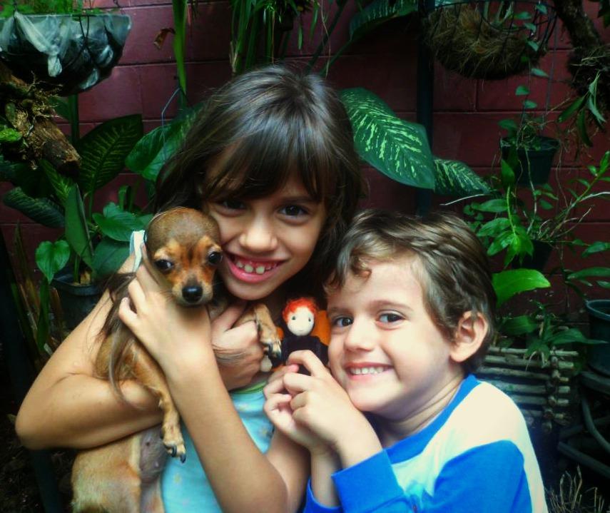 130512 picmonkey Skyler in San Salvador with Totoro's children