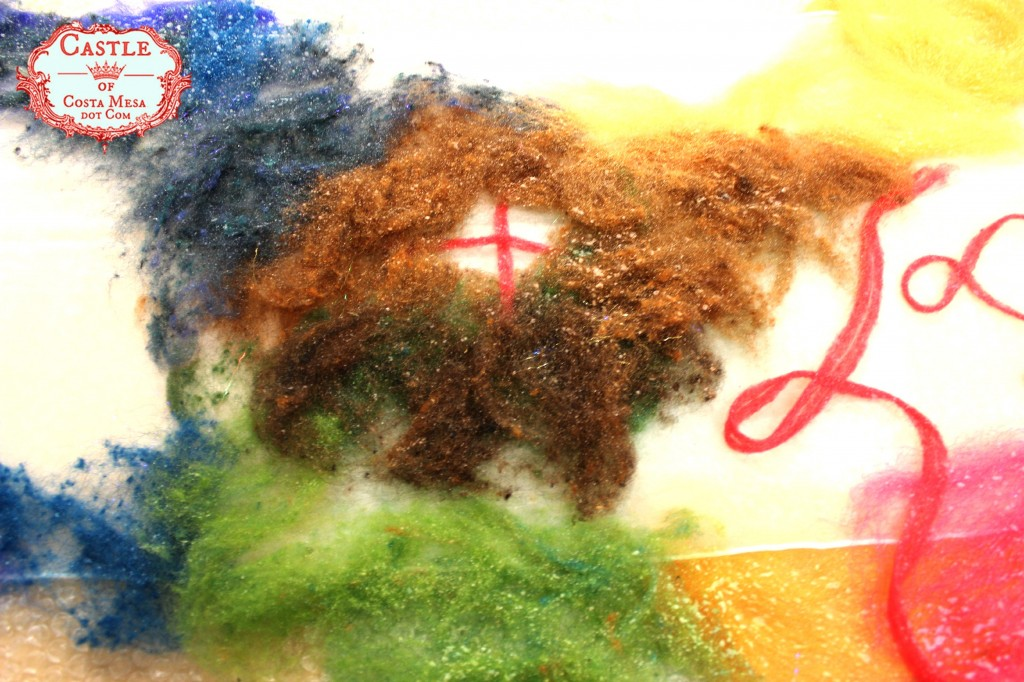 130522 Jzin's nuno felting experiment wool sprayed with soapy water
