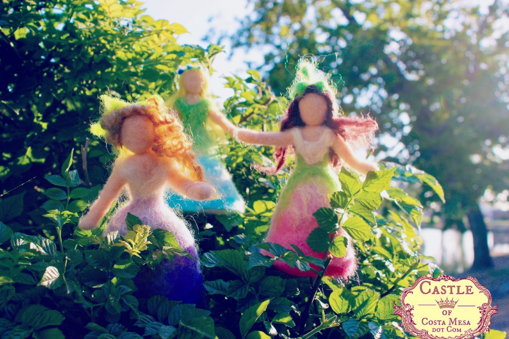130525 Trio of flower fairies frolicking it the bushes