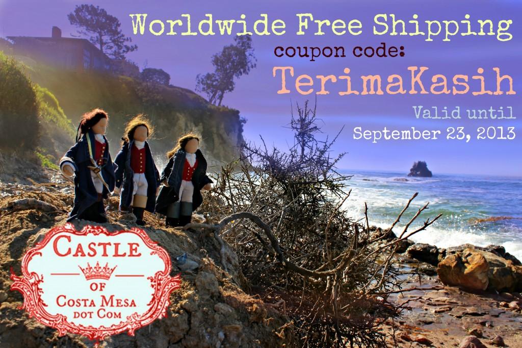 121002 3 sailors purple. Free Shipping. Coupon code TerimaKasih